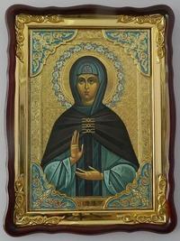 Зоя, Св. муч., в фигурном киоте, с багетом. Храмовая икона (60 Х 80)