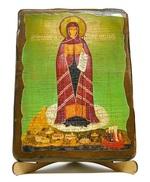 Афонская Б.М. (Игуменья Святой горы), икона под старину, на дереве (17х23)