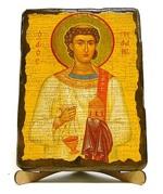 Стефан Первомученик, икона под старину, на дереве (17х23)