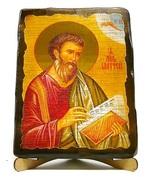 Апостол Матфей, икона под старину, на дереве (17х23)