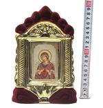 Семистрельная Б.М., керамика, икона средняя, флокированная, цвет бордовый - золото (СА).