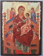 Всецарица Б.М., икона под старину JERUSALEM прямая (13 Х 17)