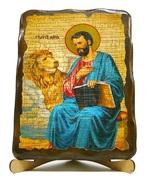 Апостол Марк, икона под старину, на дереве (17х23)