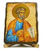 Апостол Петр, икона под старину, на дереве (17х23)