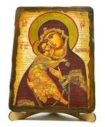 Владимирская Б.М., икона под старину, на дереве (17х23)