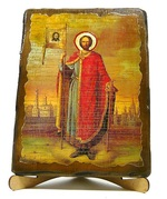 Александр Невский (рост), икона под старину, на дереве (17х23)