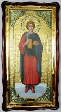 Валерий, Св.муч., в фигурном киоте, с багетом. Большая Храмовая икона (61 Х 112)