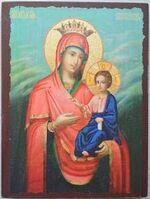Скоропослушница Б.М., икона под старину JERUSALEM прямая (13 Х 17)