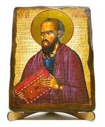 Апостол Павел, икона под старину, на дереве (17х23)