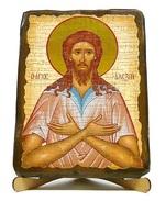 Алексий, человек Божий, икона под старину, на дереве (17х23)
