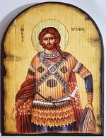 Артемий Антиохийский (светлый фон), икона под старину JERUSALEM, арка (13 Х 17)