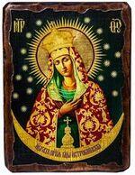 Остробрамская Б.М. (тёмный фон), икона под старину, сургуч (17 Х 23)