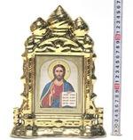 Спаситель, керамика, икона большая купола, цвет золото (СА).