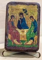 Троица, икона под старину, сургуч (8 Х 10)