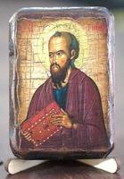 Апостол Павел, икона под старину, сургуч (8 Х 10)