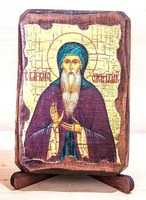 Олег Брянский, Св. Бл. Князь, икона под старину, сургуч (8 Х 10)