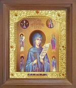 Параскева Пятница, Св. Вмч. Икона в деревянной рамке с окладом (Д-26псо-140)