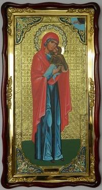 Анна, Святая Праведная (рост),в фигурном киоте, с багетом. Большая Храмовая икона (61 х 112)