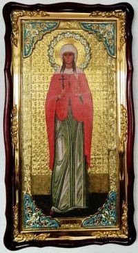 Татьяна, Св.муч., (рост), в фигурном киоте, с багетом. Большая Храмовая икона (61 х 112)
