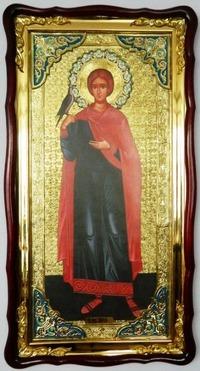 Трифон, Св.муч., (рост), в фигурном киоте, с багетом. Большая Храмовая икона (61 х 112)