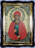 Маргарита Св. муч., в фигурном киоте, с багетом. Храмовая икона (60 Х 80)