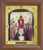 Похвала Б.М. Икона в деревянной рамке с окладом (Д-26псо-144)