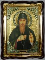 Захарий Преп., в фигурном киоте, с багетом. Храмовая икона (60 Х 80)