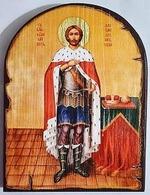 Александр Невский (рост), икона под старину JERUSALEM, арка (13 Х 17)