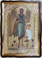 Усекновение главы Иоанна Предтечи, в фигурном киоте, с багетом. Храмовая икона 80 Х 110 см.