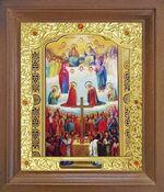 Собор всех Святых. Икона в деревянной рамке с окладом (Д-26псо-150)