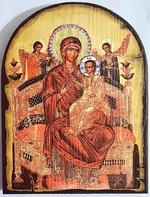Всецарица Б.М., икона под старину JERUSALEM, арка (13 Х 17)