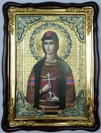 Глеб, в фигурном киоте, с багетом. Храмовая икона (60 Х 80)