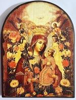Неувядаемый цвет Б.М., икона под старину JERUSALEM, арка (13 Х 17)