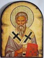 Геннадий, Архиепископ Новгородский, икона под старину JERUSALEM, арка (13 Х 17)