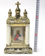 Спаситель, керамика, икона большая купола, крест, цвет золото (СА).