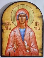 Анна пророчица Св.Мч., икона под старину JERUSALEM, арка (13 Х 17)