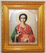 Пантелеймон, Икона в багетной рамке 14 Х 16