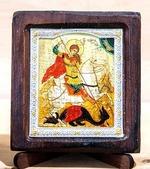 Георгий убивающий змея, Икона Византикос, полуоклад, 8Х6