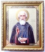 Сергий Радонежский. Икона в багетной рамке 19 Х 22