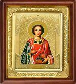 Пантелеймон, икона в деревянной рамке (Д-16пс-48)