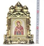 Умягчение злых сердец Б.М., керамика, икона большая купола, цвет золото (СА).