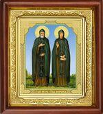 Петр и Феврония, икона в деревянной рамке (Д-16пс-49)