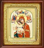 Достойно Есть Б.М., икона в деревянной рамке (Д-16пс-33)