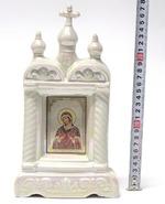 Семистрельная Б.М., керамика, икона большая купола, крест, цвет перламутр (СА).