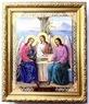 Троица. Икона в багетной рамке 19 Х 22