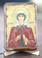 Валентина, Св.Муч., икона под старину, сургуч (8 Х 10)
