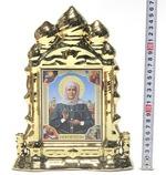 Матрона Московская, керамика, икона большая купола, цвет золото (СА).