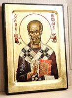 Николай Чудотворец, икона Греческая, 17 Х 23