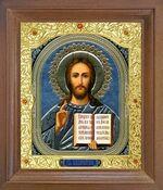 Спаситель. Икона в деревянной рамке с окладом (Д-25псо-18)