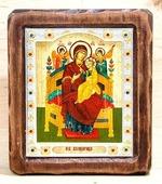 Всецарица Б.М., Икона Византикос, полуоклад, 12Х14